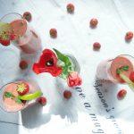 Summer drinks - Minty Watermelon Strawberry Smoothie