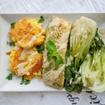 Asian-style Steamed Salmon in Banana Leaf & Coconut Miso Sauce