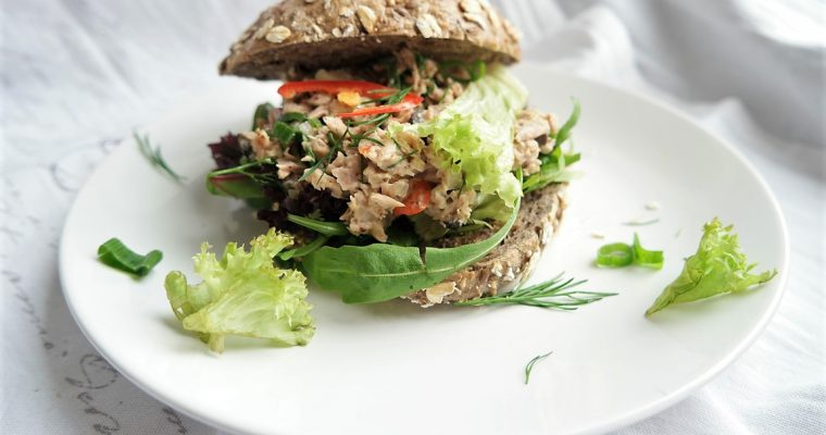 BEST budget tuna bagel lunch  – 2 delicious and healthy ways with canned tuna