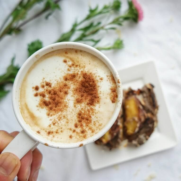 Coffee and Peach French Toast