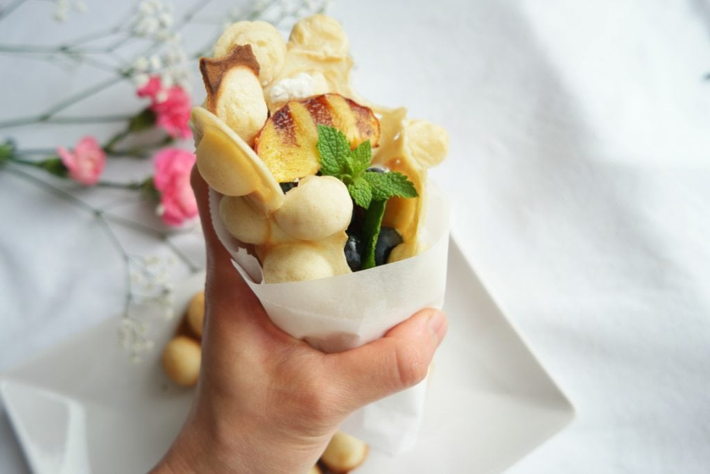 Healthy Egg Bubble Waffles to go