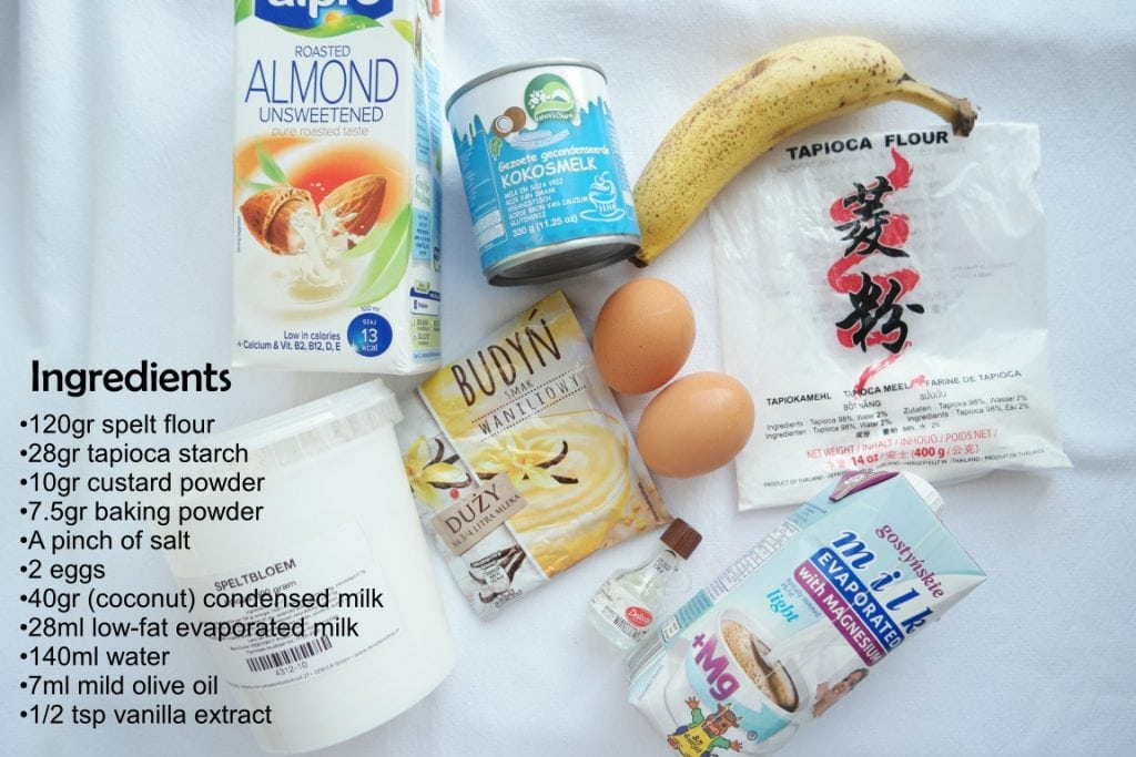 Ingredients for Hong Kong Egg Waffles