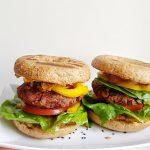 Beet Veggie Burger with Bagel